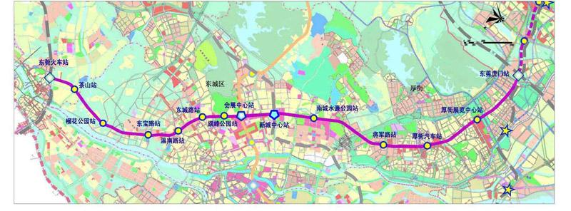 东莞地铁R2线预计将从4月开始正式铺轨